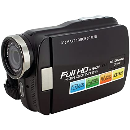 Image of Bell+Howell DV3HD Touch Screen Full High Definition 1080p Digital Video Camcorder Camcorders