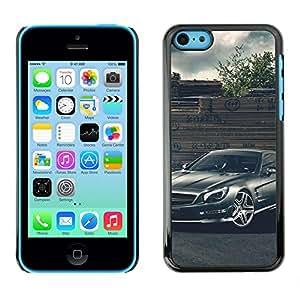 CASECO - iPhone 5C - Merc German Car - Delgado Negro Plástico caso cubierta Shell Armor Funda Case Cover - Merc German Car
