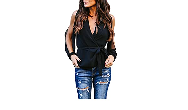YelloW Women Long Sleeve T Shirt Tunic Tops Plain Casual Basic Blouse Shirts Tees Cut Out Top (XL, Black) at Amazon Womens Clothing store: