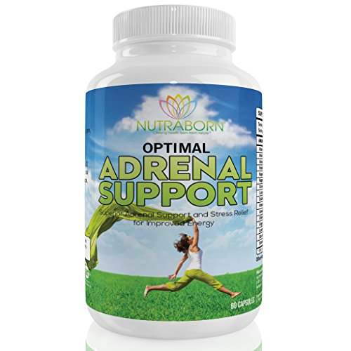 Adrenal Support - Cortisol Manager with Magnesium, Vitamin C, B12, B6, B5, Ashwagandha, Schizandra Berry, Rhodiola, Licorice & More. Fatigue & Insufficiency Support. 100% Guaranteed - 60 Capsules