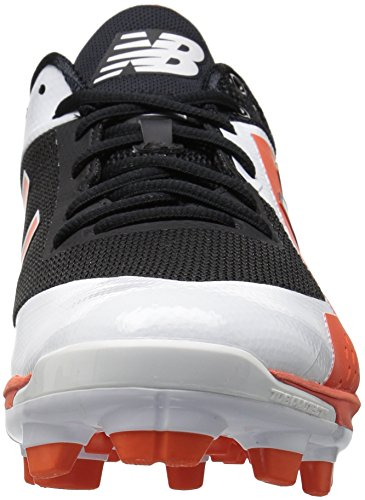 New Balance Mens Pl4040v4 Gjutna Baseball Skor Svart / Orange