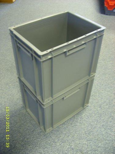5 Neue Kunststoff Aufbewahrung Kisten Box Container 30L Grau