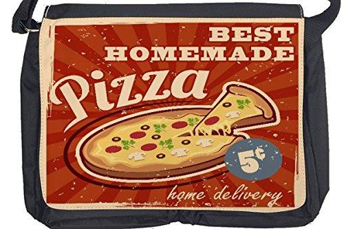 Borsa Tracolla Nostalgico Divertimento pizza fatta in casa Stampato