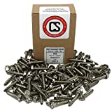 "#10 X 1"" Stainless Steel Hex Washer Head w/Slot"