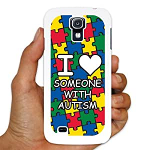Samsung Galaxy S4 Case - Autism Awareness - I Love Someone With Autism - White Plastic Case