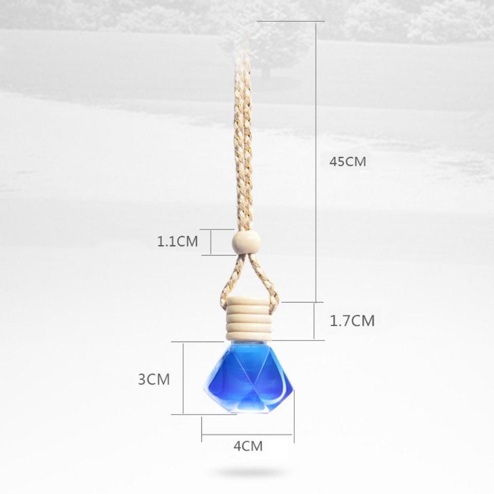 Bleu Kasit 1 PC Maison Suspendue Air D/ésodorisant Parfum Parfum Diffuseur Bouteille en VerreA