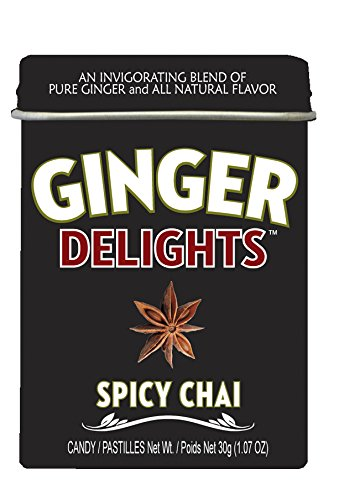 Big Sky Ginger Delights Spicy Chai Mints - Pack of (Sky Mint Tin)
