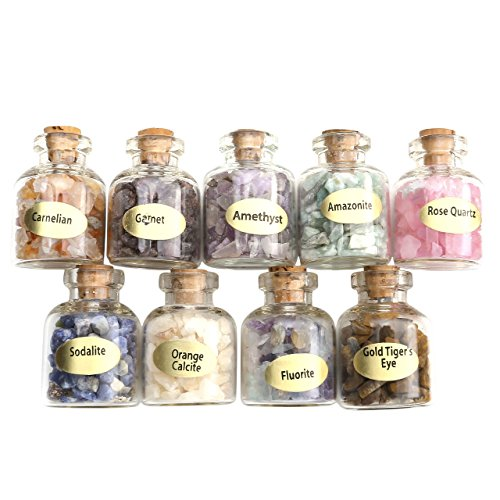 Gemstone Bottles Crystal Healing Tumbled