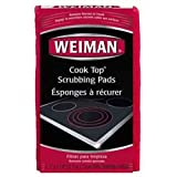 Weiman Cook Top Scrubbing Pads - Gently Clean and Remove Burned-on Food from All Smooth Top and Glass Cooktop Ranges, 3 reusable pads