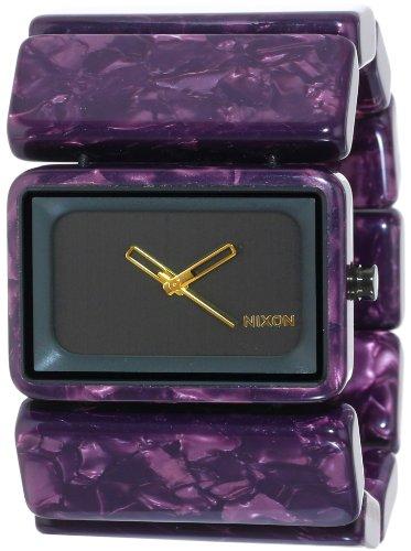 Nixon Women's Vega Analog Watch, Color: Gunmetal / Velvet