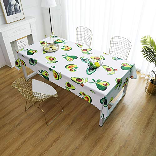 iLiveX Table Cloth, Original Design Hand Drawing Art Print Tablecloth, Water-Proof Rectangle Table Cover, Kitchen Dining Indoor Outdoor Buffet Tabletop Decoration, 60x102 (Avocados)
