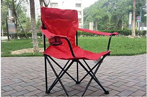 Mlimy Rocking Chaises pliantes Chaises de jardin Chaise pliante Portable Pêche Chaises Chaise Fauteuil Camping Plage (Color : Red)