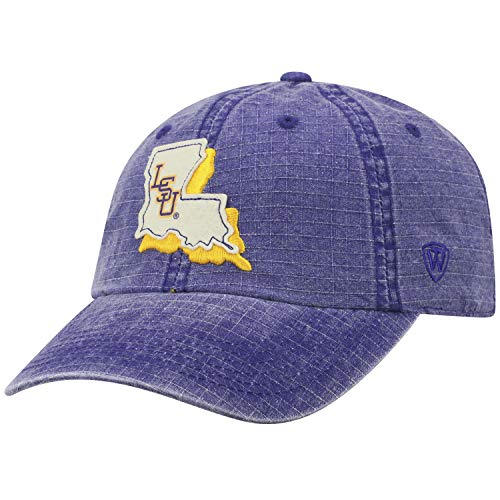 Lsu Golf Merchandise - Top of the World LSU Tigers Official NCAA Adjustable Stateline Cotton Hat Cap 456782