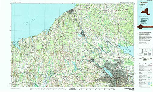 Flag Square Battle (YellowMaps Syracuse NY topo map, 1:100000 Scale, 30 X 60 Minute, Historical, 1985, Updated 1994, 24.1 x 40 in - Polypropylene)