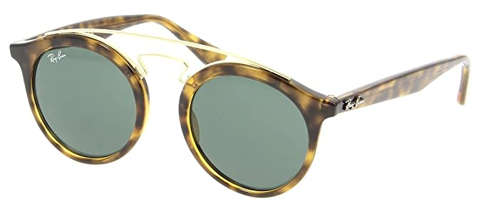 66a72afb77 Image Unavailable. Image not available for. Color  Ray Ban RB4256 710 71 46  Havana Dark Green Sunglasses ...