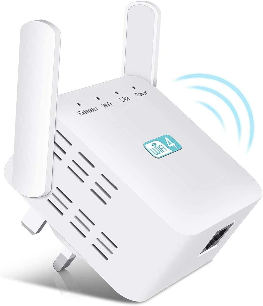 Kawer WiFi Extender Internet Range Booster Supports RP//AP Mode 2.4G 300Mbps WiFi Booster Range Extender For Home And Office Compatible with All Routers