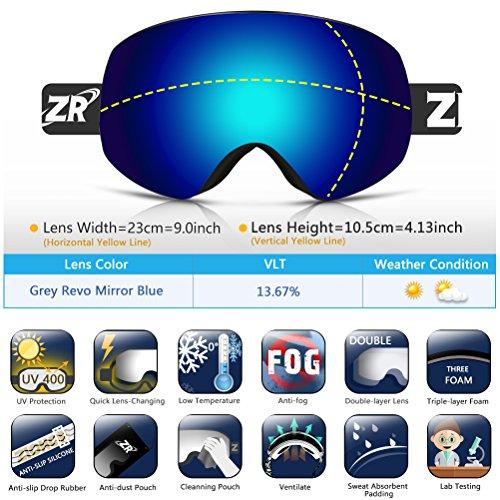 ZIONOR Lagopus X7 Ski Snowboard Goggles with Qu...