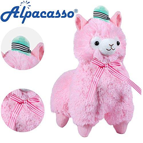 Alpacasso 14 Pink Plush Alpaca,Cute Soft Stuffed Animals Toy.