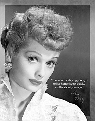 MMNGT I Love Lucy Staying Young TV Retro Vintage Tin Sign TIN Sign 7.8X11.8 INCH