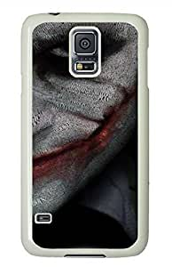 Joker Smile White Hard Case Cover Skin For Samsung Galaxy S5 I9600