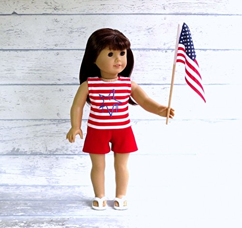 18-inch-Doll-Clothes-4th-of-July-Tank-Top-and-Shorts-Outfit