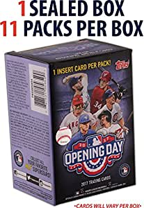 2017 Topps Opening Day Baseball Factory Sealed 11 Pack Box - Fanatics Authentic Certified - Baseball Wax Packs
