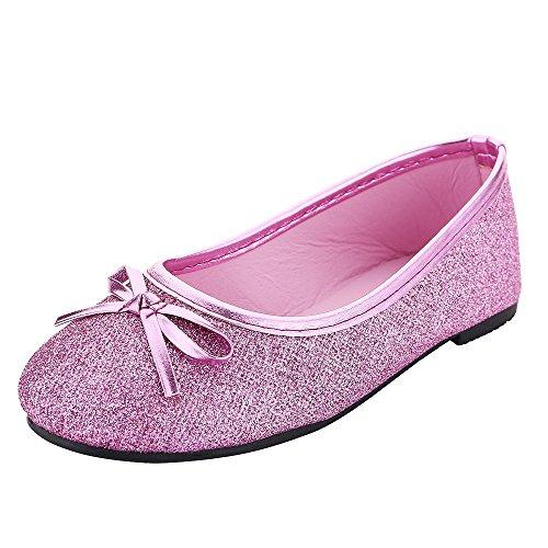 Bling Bling Glitter Fashion Slip On Children Ballet Flats Shoes for Little Kids Girls and Toddler Girl (Toddler Girl Size 9.5M, Fuchsia) -