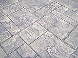 Ashler Notched Slate Concrete Stamp Set by