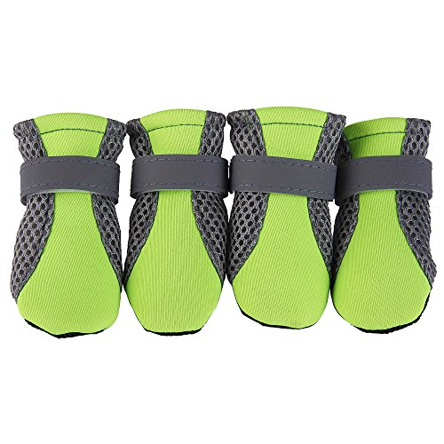 V-Hao Dog Boots Summer Non-Slipp Pet Booties For Cats Heat-Resistence Paw Protectors Breathable Dog Shoes Outdoor by V-Hao