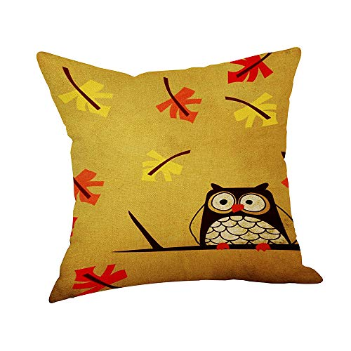 Decorations Cushion Cover Happy Fall Thanksgiving Day Linen Turkey Pillow Case Home Decor by GREFER (Multicolor -A)]()