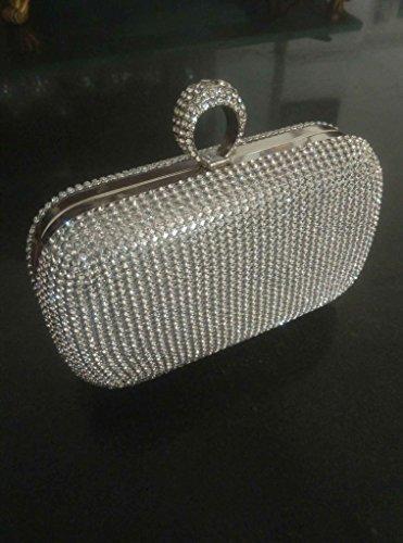 pour Pochette argent femme Silver doré Handbag BF taille unique EqwCUvax5n