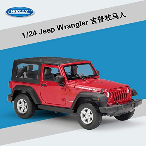 Diecasts & Toy Vehicles - Day 1/24 Scale Car Model Toys USA 2007 Jeep Wrangler SUV Diecast Metal Car Toy for Gift/Collection/Decoration/Kids - by HUKAZ - 1 PCs from HUKAZ