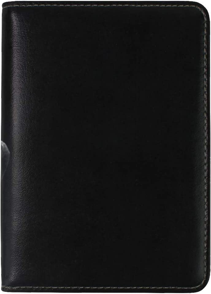 JiaoL Rose Black Bud Leather Passport Holder Cover Case Travel One Pocket
