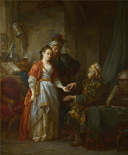 [Perfect Effect Canvas ,the Beautiful Art Decorative Prints On Canvas Of Oil Painting 'Jean Baptiste Le Prince The Necromancer ', 12 X 15 Inch / 30 X 37 Cm Is Best For Laundry Room Gallery Art And Home Gallery Art And] (Goth Ann Teen Costumes)