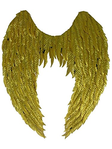 Forum Novelties Party Supplies 79505 Metallic Non-Feathered Wings, Gold, Standard -