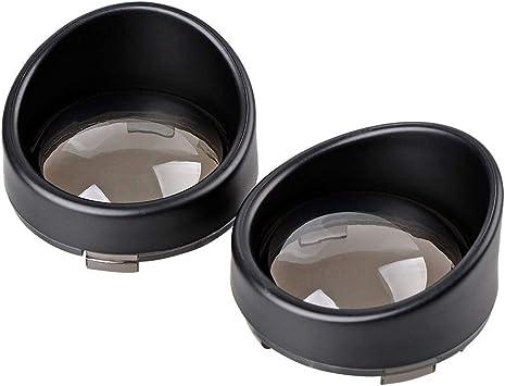 Bullet Turn Signal Light Bezels,Black Visor Style Compatible for Harley Dyna Street Glide Road Softail Custom Cruiser 1986-2020 PBYMT Smoke Lens Cover