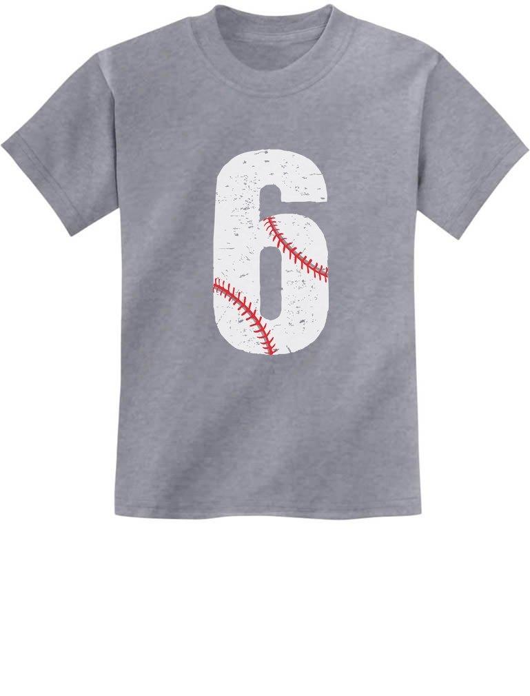Baseball 6th Birthday Gift For Six Year Old T Shirt 7654