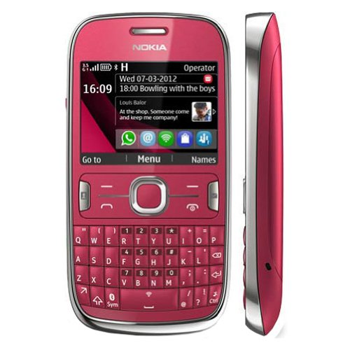 Nokia Asha 302 Unlocked GSM Phone with 3.2MP Camera, Video, QWERTY Keyboard, Wi-Fi, Bluetooth, FM Radio, MP3/MP4 Player and microSD Slot - International Version/Warranty - Red by Nokia