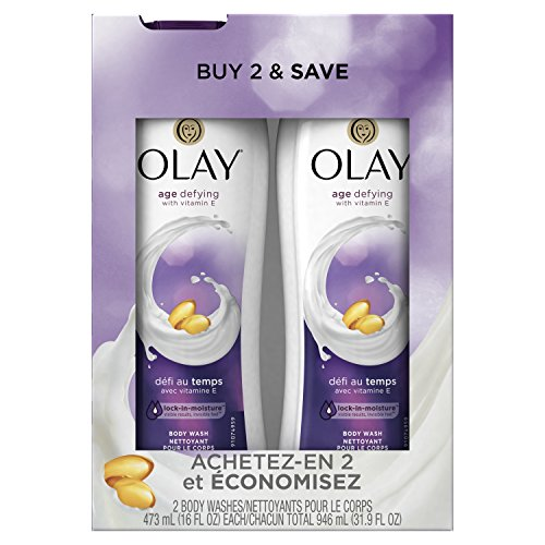 Olay Age Defying Body Wash with Vitamin E, 16 oz,