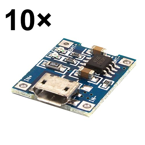 McIgIcM 10pcs TP4056 1A Lipo Battery Charging Board Charger Module lithium battery DIY MICRO Port Mike USB