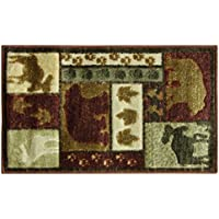 Bacova Guild 23079 Studio Designs Carved Accent Rug, 33 x 19, Wilderness Lodge