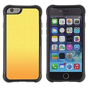 WAWU Funda Carcasa Bumper con Absorci??e Impactos y Anti-Ara??s Espalda Slim Rugged Armor -- orange sunset yellow gold warm -- Apple Iphone 6