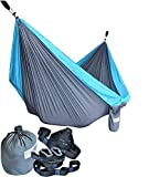 Cutequeen Garden Hammock Outdoor Camping Hammocks Nylon Lightweight Multifunctional Parachute for Park,Backyard,Traveling,Backpacking,Yard,Beach