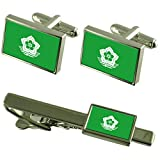 Harbin City South Africa Flag Cufflinks Tie Clip Box Gift Set