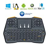 Betheaces Wireless 2.4GHz Mini QWERTY Keyboard with Touchpad Mouse Li-ion Battery Power for Desktop PC , Laptop , Tablet , Xbox 360 , Projector , Android TV Box etc (black)