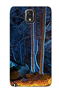 Ideal Exultantor Case Cover For Galaxy Note 3(forest Autumn Trees Night Leaves Nature ), Protective Stylish Case