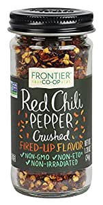 Frontier Chili Peppers Red Crushed (15,000 Heat Units), 1.2-Ounce Bottle