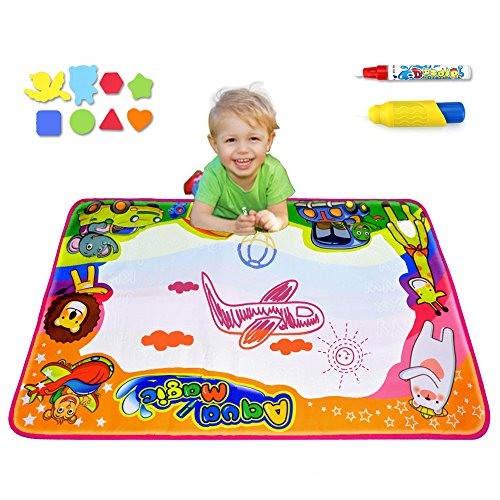Ubetoone Aqua Magic Mat Kids Toys Water Doodle Drawing Pad Large for Boys Girls Toddlers Gift Size 34.6 X (Boys Water)