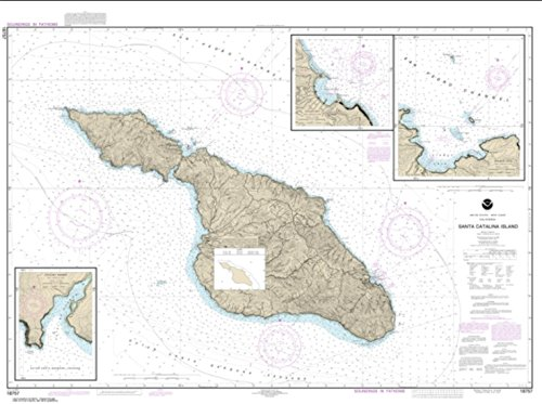 NOAA Chart 18757-Santa Catalina Island; Avalon Bay; Catalina Harbor; Isthmus Cove - Water-Resistant - by East View Geospatial