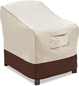 Vailge Patio Chair Covers, Lounge Deep Seat Cover, Heavy Duty and Waterproof Outdoor Lawn Patio Furniture Covers (Small, Beige & Brown)